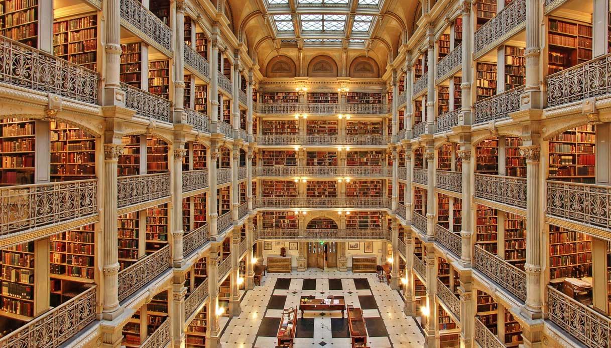 George Peabody Library Perpustakaan Termegah Di Dunia Yang Diambil Dari Nama George Peabody